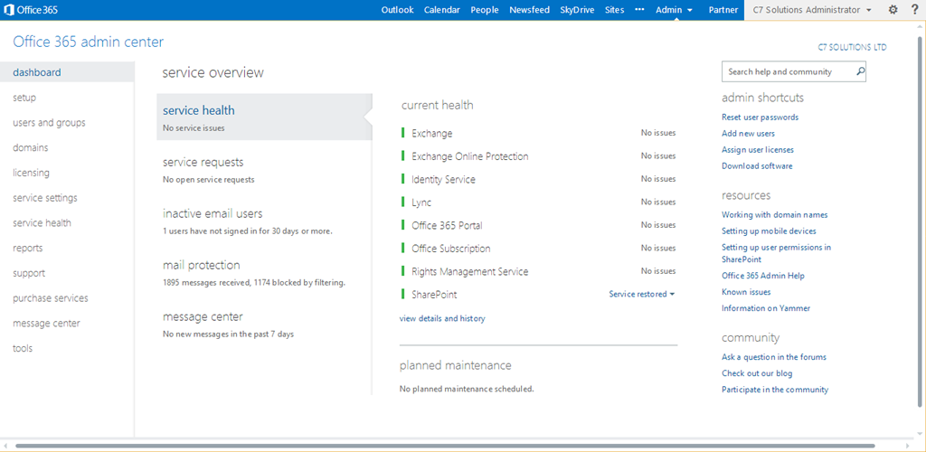 Turning on azure active directory rights management c7 - Rights management services office 365 ...