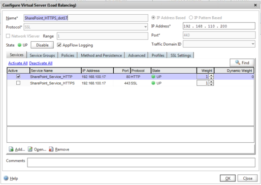Configuring Citrix Netscaler for SharePoint SSL Offloading