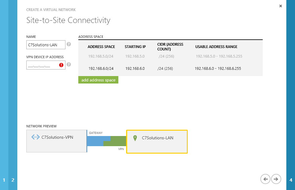 Creating an Azure VPN with a Draytek Router – C7 Solutions