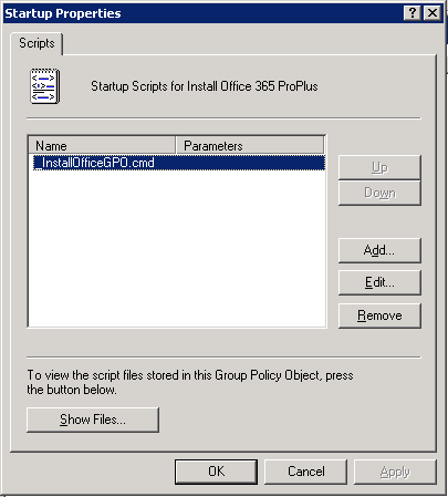 Installing Office 365 ProPlus Click To Run via GPO