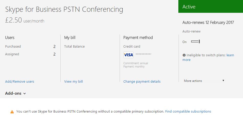 Skype for Business Online PSTN Conferencing and Office 365