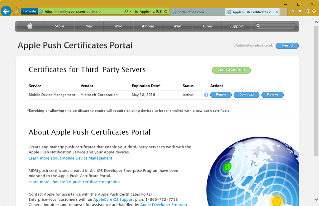 Renewing Apple APN for Office 365 Mobile Device Management – C7 ...