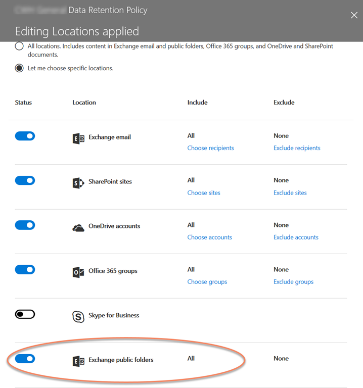 Office 365 Retention Policies and Hybrid Public Folders – C7 Solutions