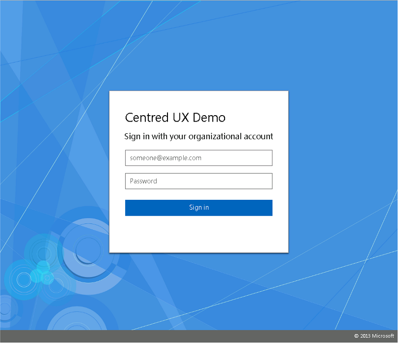 Customizing ADFS To Match Azure AD Centered User Experience