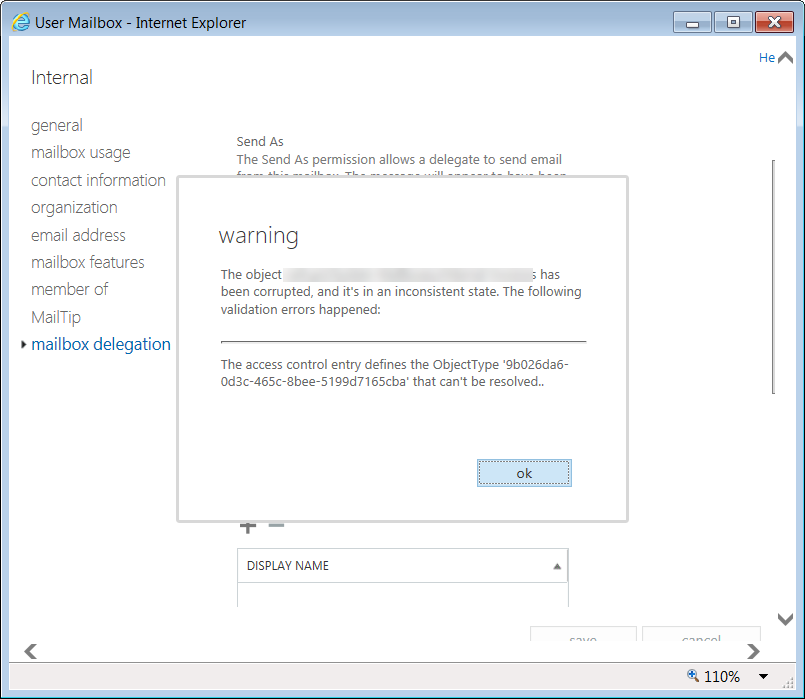Exchange Server Object ID Error With Windows Server 2016 Domain
