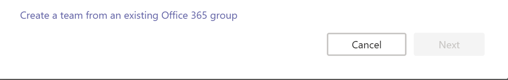Convert Office 365 Group to Microsoft Team Totally Failing – C7