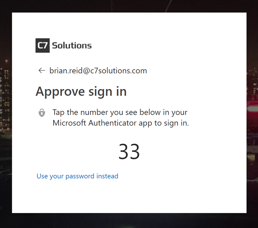 Getting Rid of Passwords in Azure AD / Office 365 – C7 Solutions