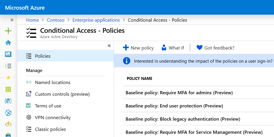 Conditional Access Based MFA