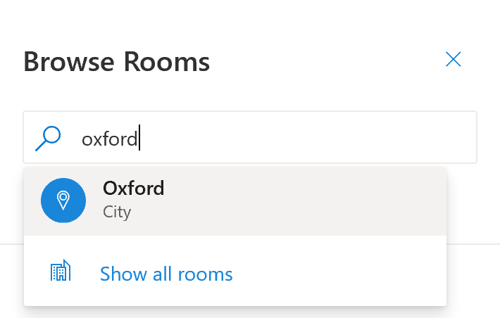 Browse Rooms by City